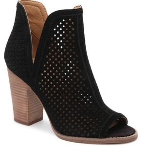 Lucky Brand Larise Open Toe Laser Cut Out Bootie